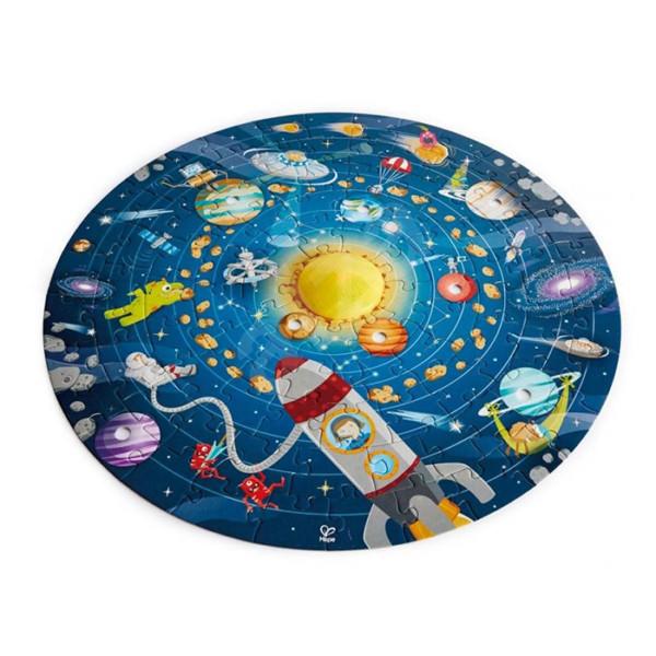 ROMPECABEZAS 100 PIEZAS DEL SISTEMA SOLAR - PIEZAS 3D Y SOL LUZ LED
