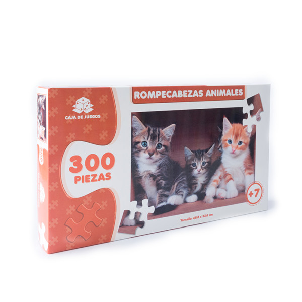 ROMPECABEZAS COLECCION ANIMALES GATITOS 300 PC