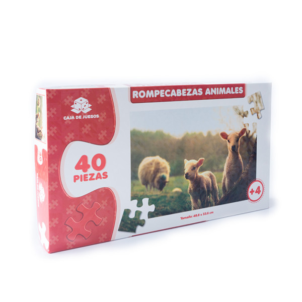 ROMPECABEZAS COLECCION ANIMALES OVEJAS 40 PC