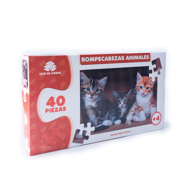 ROMPECABEZAS COLECCION ANIMALES GATITOS 40 PC