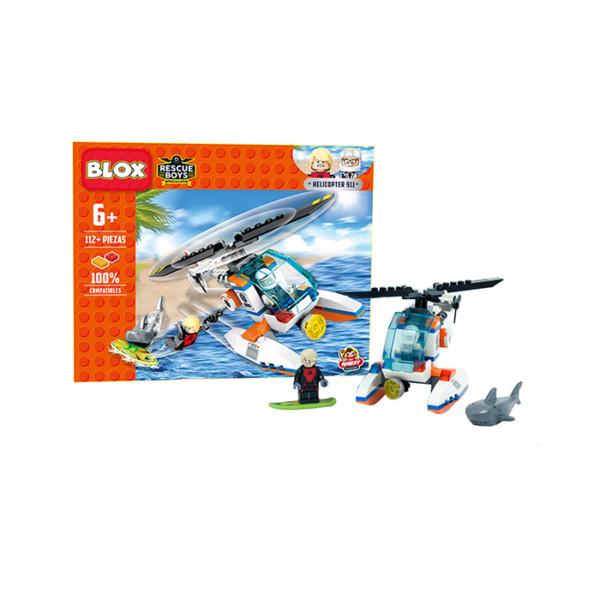 BLOX BLOQUES DE ARMAR HELICOPTERO 112 PZS *D8