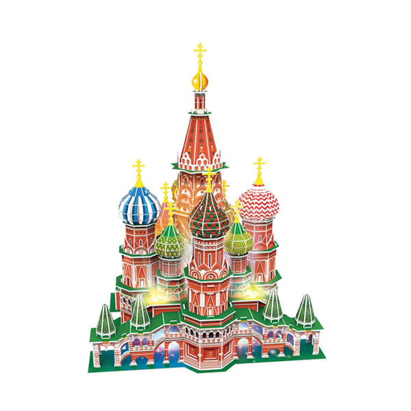 CATEDRAL SAN BASILIO - MOSCU ROMPECABEZAS 3D CON LUZ LED