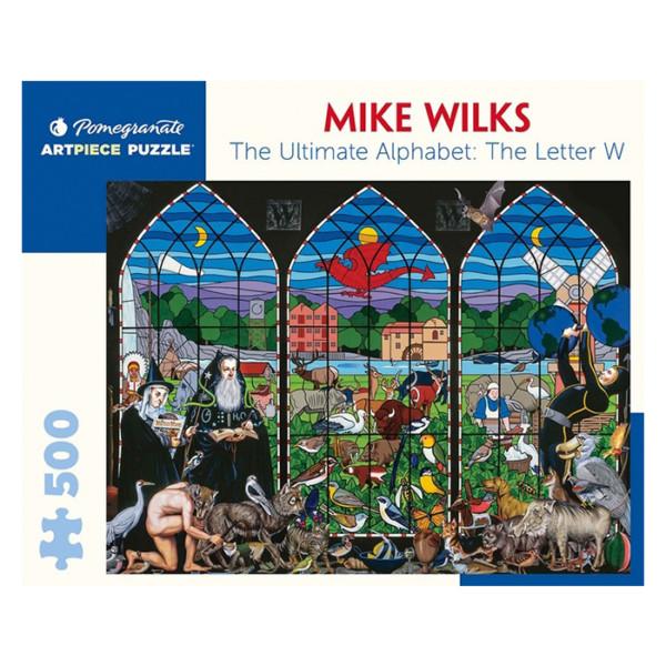 PUZZLE 500 PIEZAS MIKE WILKS THE ULTIMATE ALPHABET : THE LETTER W
