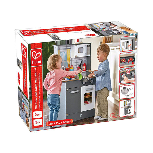 COCINA LUCES Y SONIDO E3166 KITCHEN WITH LIGHT AND SOUND HAPE