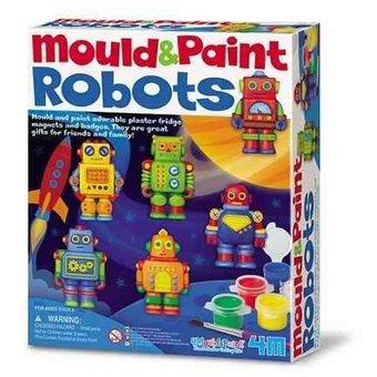 MOLDEAR Y PINTAR ROBOTS 4M