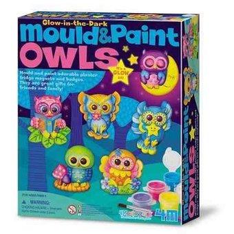 MOULD AND PAINT/ GLOW OWLS 4M BUHOS BRILLAN EN LA OSCURIDAD
