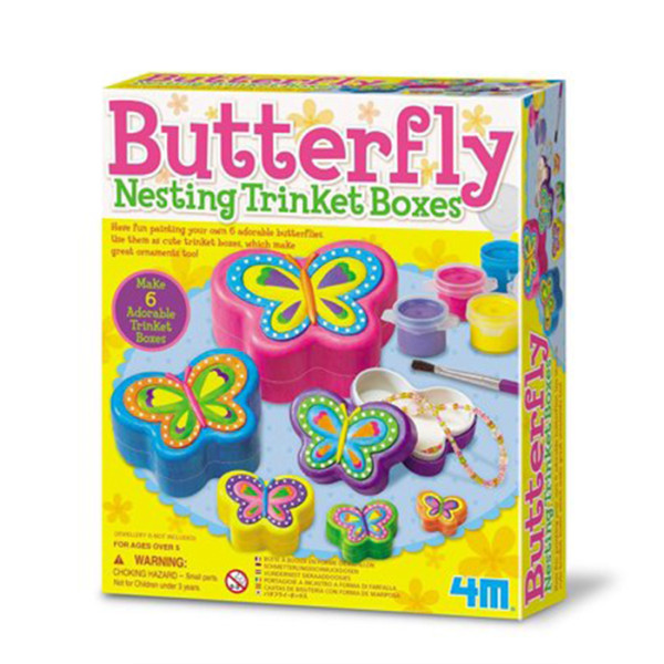 BUTTERGLY NESTING TRINKET BOXES 4M