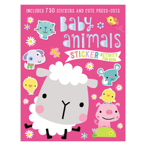 LIBRO EN INGLES STICKER ACTIVITY BOOKS BABY ANIMALS MAKE BELIEVE IDEAS
