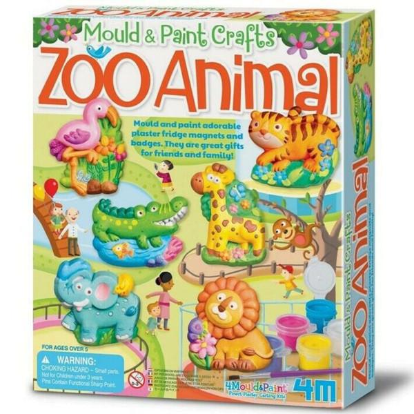 MOULD & PAINT ZOO ANIMALS 4M MOLDEA Y PINTA
