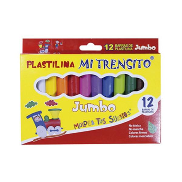 CAJA DE PLASTILINA JUMBO X 12 COLORES