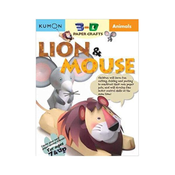 León y Ratón Artesanía de Papel 3D