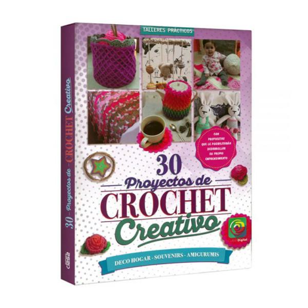 30 PROYECTOS DE CROCHET CREATIVO (DECO HOGAR,SOUVENIRS,AMIGURUMIS)