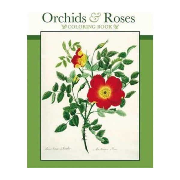 LIBRO COLORING BOOK ORCHIDS & ROSES
