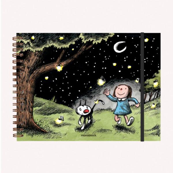 Cuaderno Liso Noche Estrellada