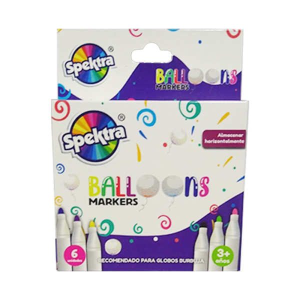 BALLONS MARKERS X 6 UNDS SURTIDO