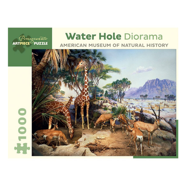 PUZZLE WATER HOLE DIORAMA AMERICAN MUSEUM OF NATURAL HISTORY