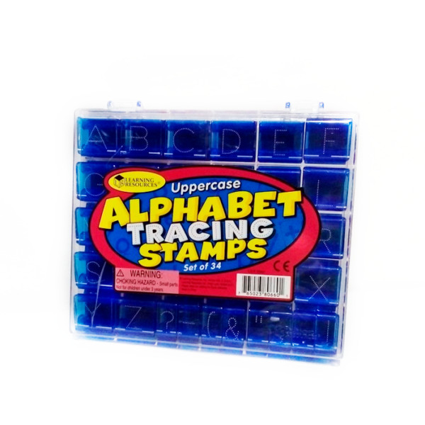UPPERCASE ALPHABET TRACING STAMPS