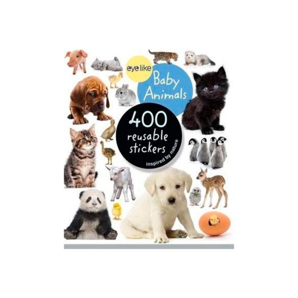 400 REUSABLE STICKERS BABY ANIMALS